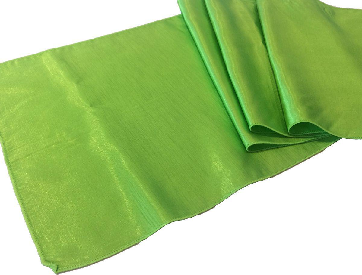 chemin de table taffetas vert lime le vaisselier. Black Bedroom Furniture Sets. Home Design Ideas